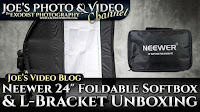 "Neewer 24 x 24"" Foldable Speedlite Softbox & L-Bracket Unboxing 