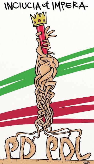 gava gavavenezia vignette satira illustrazioni infanzia cartoons fumetti caricature ridere pensare piangere  governo italia inciucio letta berlusconi alfano ammato marini napolitano golpe