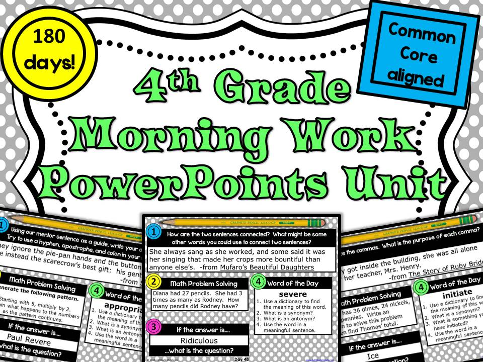 Saving One Classroom at a Time with Morning Work ...