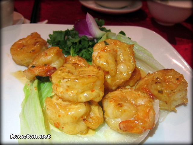 #2 Fried Butter Prawns - RM60 (medium) RM90 (large)