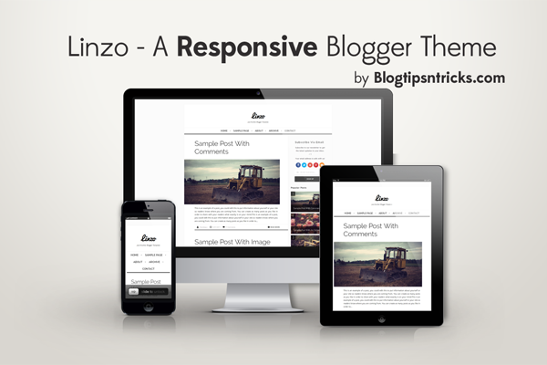 Linzo Responsive Blogger Theme Demo