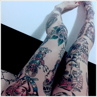 Thigh Tattoos For Women 32