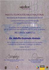 En su 75 aniversario, el IPN otorga reconocimiento a Adolfo Guzmán