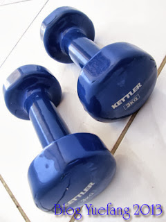 A_pair_three_kilos_Kettler_dumbbells