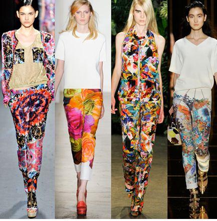 2013 ilkbahar yaz cicekli renkli kombinler 2013 Çiçekli elbise modelleri
