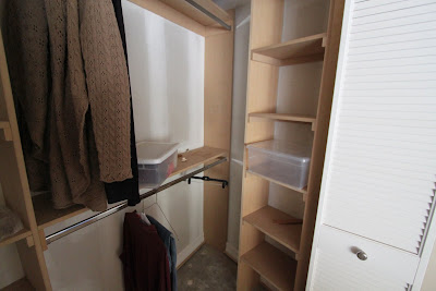 Louver doors in new closet