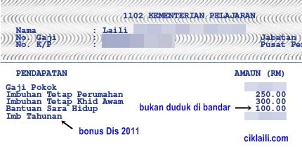 Bonus Dan Gaji Bulan Disember 2011 Diterima 19 Disember 2011