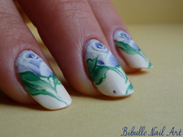 Nail art - La vraisemblance d'un bouquet de roses...