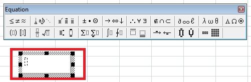 Excel Insert Equation