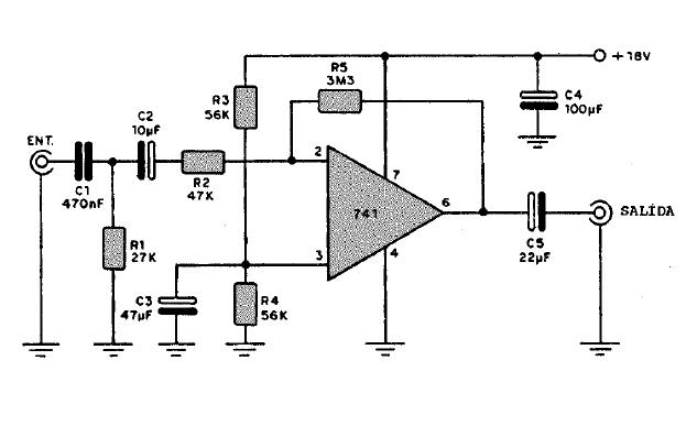 Circuito Amplificador De Audio : Electronica circuitos diagramas pre amplificador de