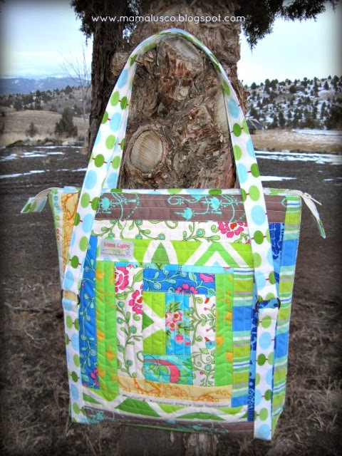 Mama Lusco Handmade Sew Sweetness Pattern Review Quilted Sawyer Bag