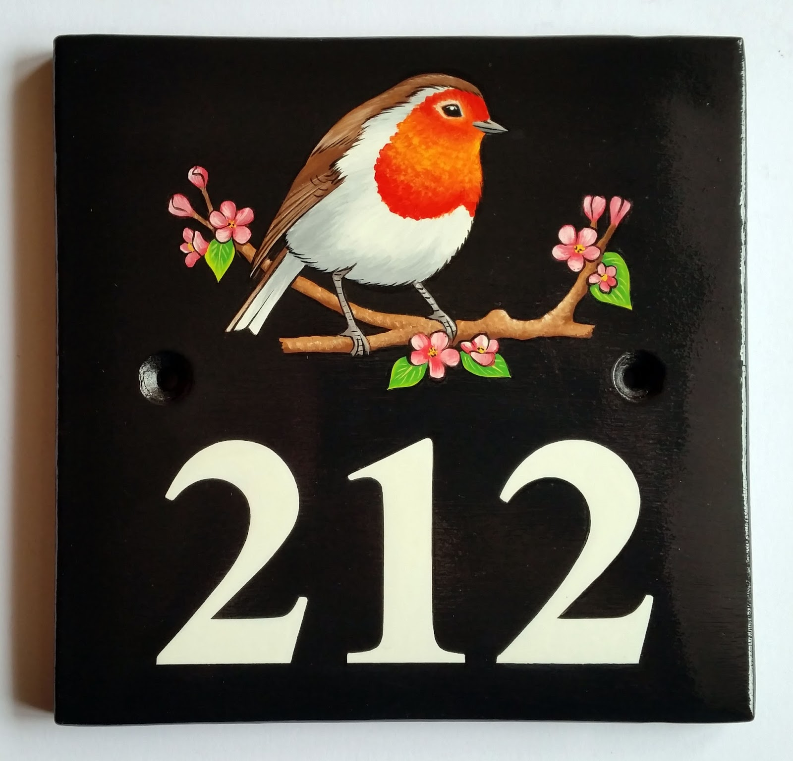 Hand Painted Ceramic House Number Plaques