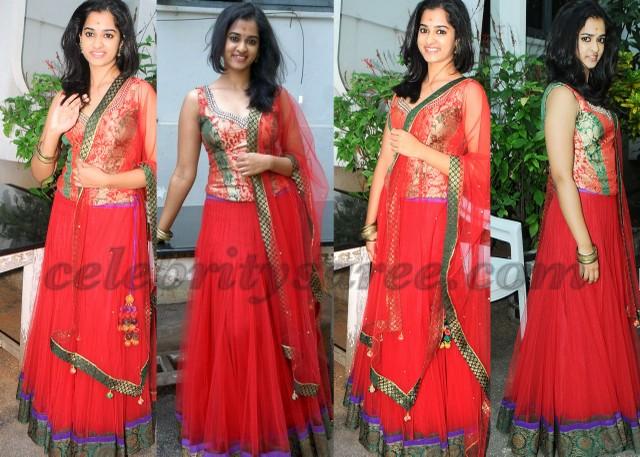 Nandita Red Designer Lehenga
