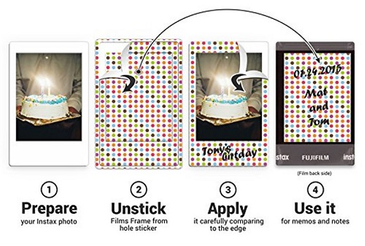 Fujifilm Instax Mini 8 Film Stickers Giveaway