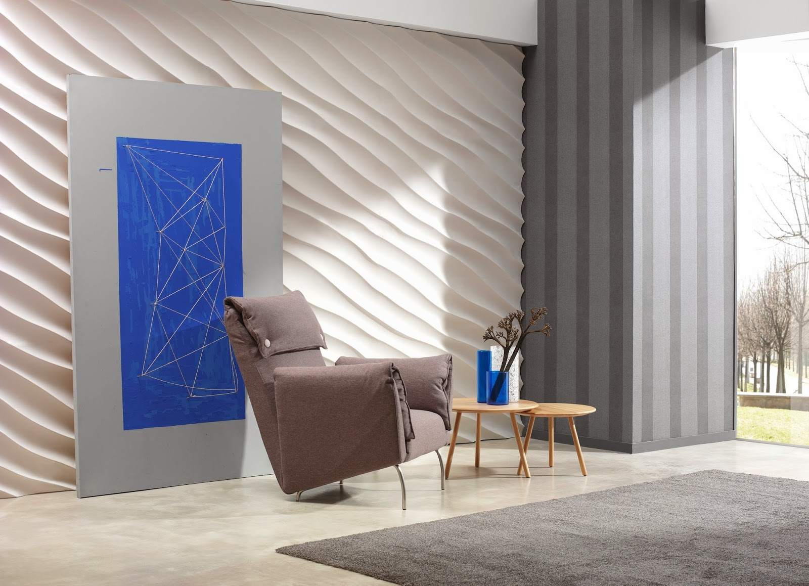 Fabulous faux contemporary interior wall panels from for Interior wall design