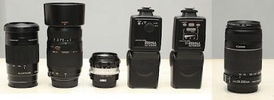 Jual External Flash dan Lensa DSLR 2nd Malang