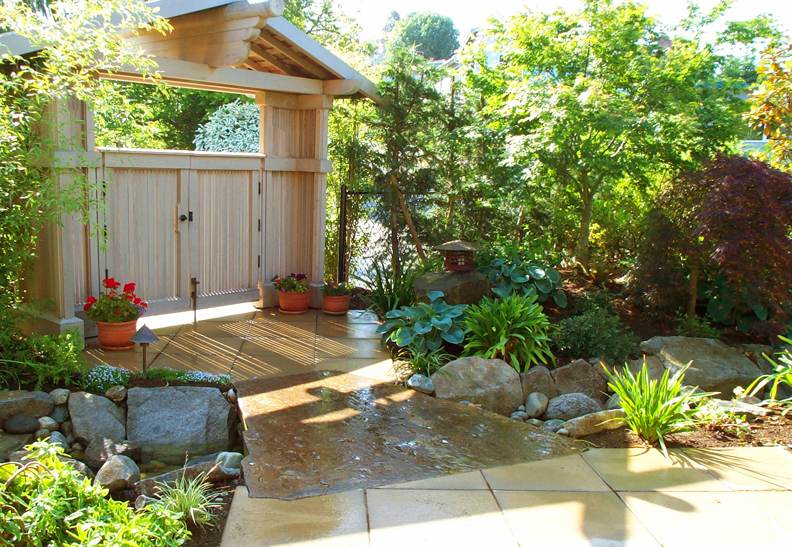 House garden designs asian style landscape northwest home for Japanese garden backyard designs