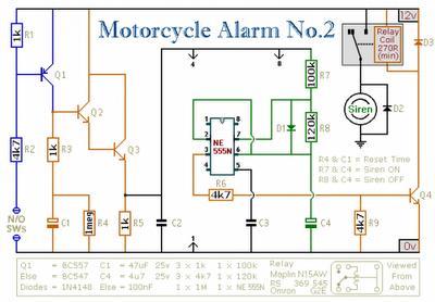 [DIAGRAM_38ZD]  Wiring Diagram: IC 555 MOTORCYCLE ALARM CIRCUIT SCHEMATIC DIAGRAM | Wiring Diagram Of Motorcycle Alarm |  | Wiring Diagram - blogger