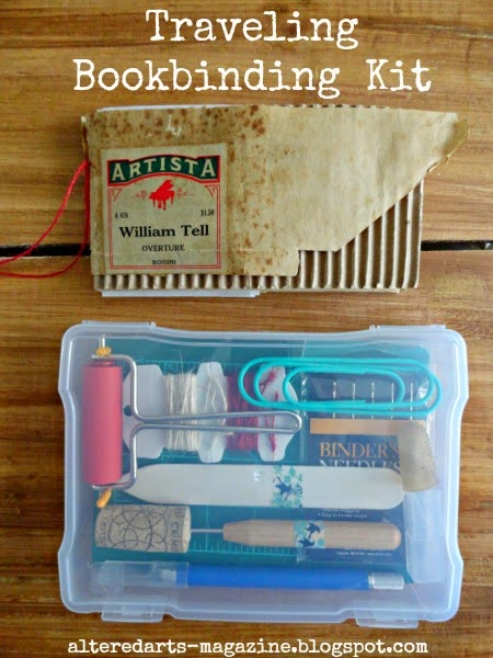 Traveling Bookinding Kit by Kimberly Jones alteredartsarts-magazine.blogspot.com
