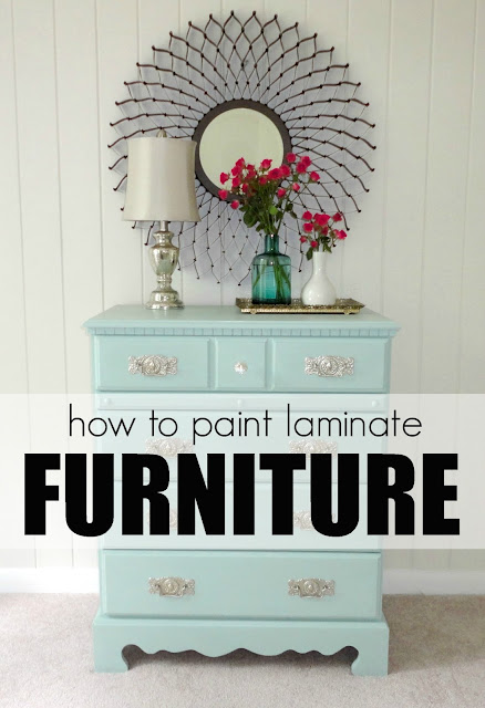 how to paint laminate furniture shabby chic 2