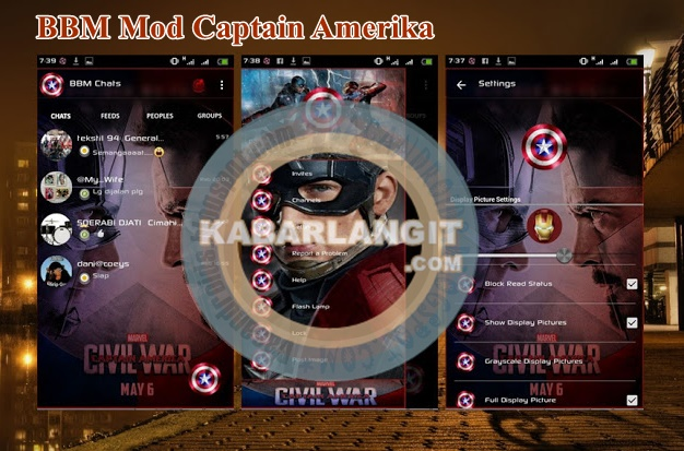 Download BBM Mod Terbaru Thema Captain America Versi