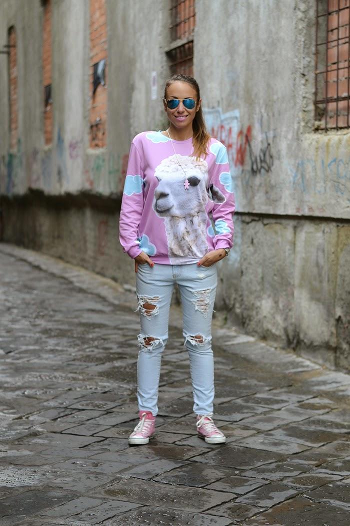 jeans chiari strappi