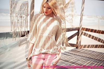 short blusas en calados y tejidos