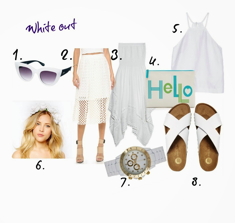 favourite fashion white items for ss14, whtieout,totalwhitelook, menslove, tibi,michalkors