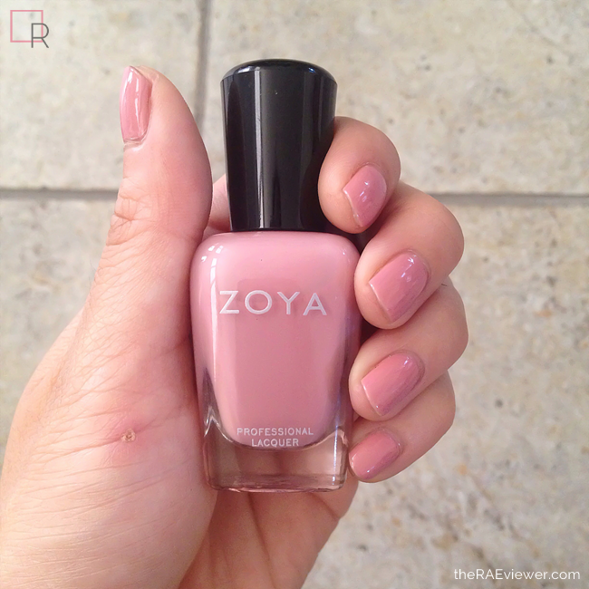 Zoya Nail Polish Describes Their Mia Shade As A Very Soft Muted Dusty Nude Mauve Pink In Glossy Creme Finish Gentle Natural Charming For