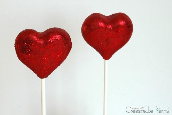 cake pop coeur / heart