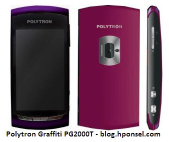 Gambar Polytron Graffiti PG2000T Ponsel Touch Screen Dual GSM.