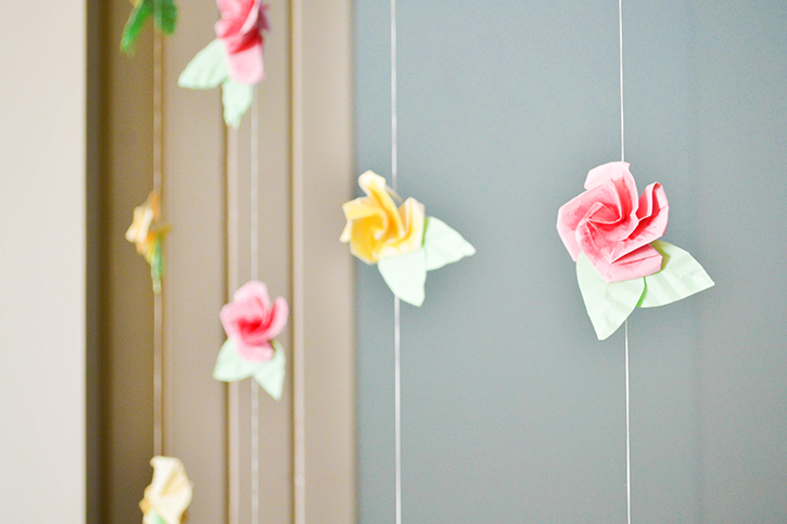Craft a doodle doo inspiration nation diy origami for Origami curtain