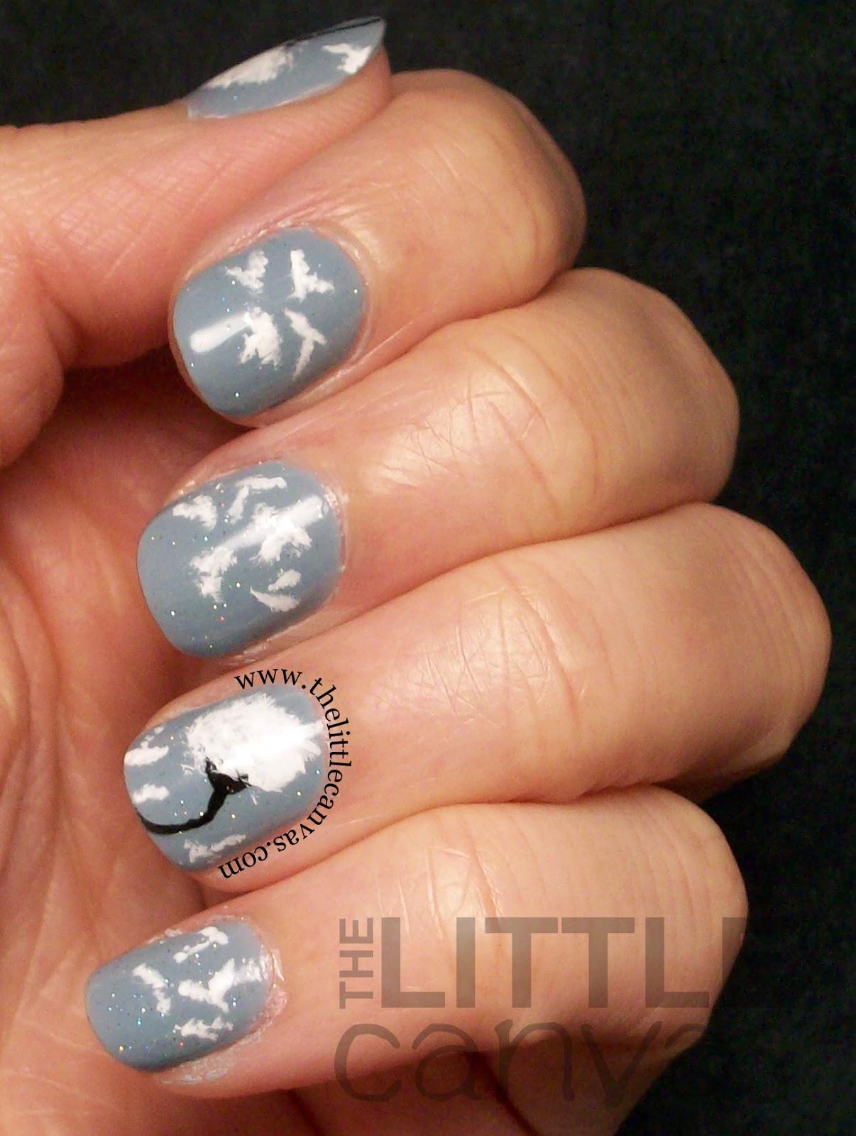 Dandelion Nail Art - The Little Canvas