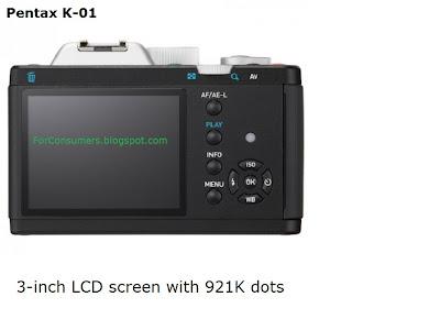 Pentax K-01 display