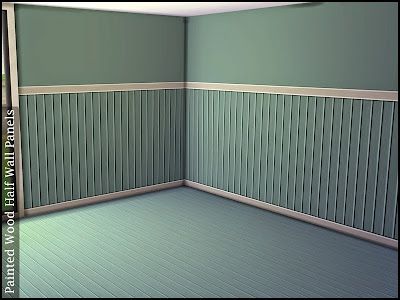 Half wall wooden cladding