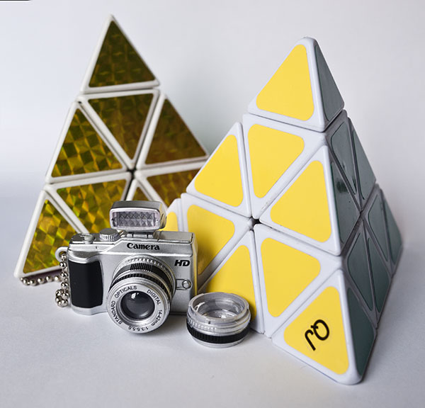 Pyraminx cube rubik camera Photo