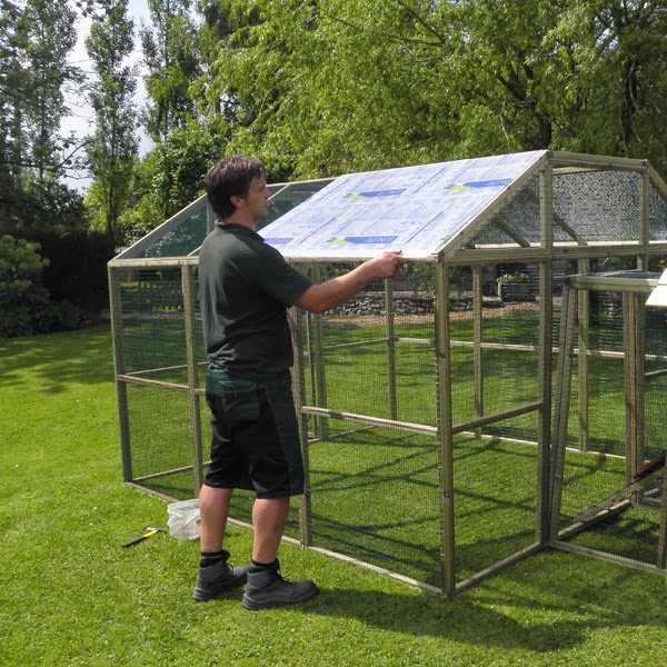 Polycarbonate Roofing for a Chicken Run
