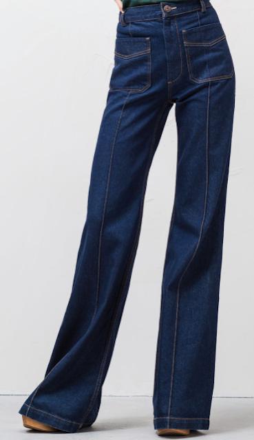 Pantalon de campana pespunte pernera, Uterqüe SS 2015