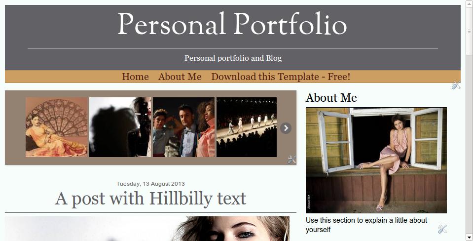 Blogger Buster: Free Blogger Template - Responsive Portfolio