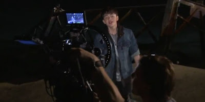 "Greyson Chance on set of new ""Sunshine & City Lights"" music video"