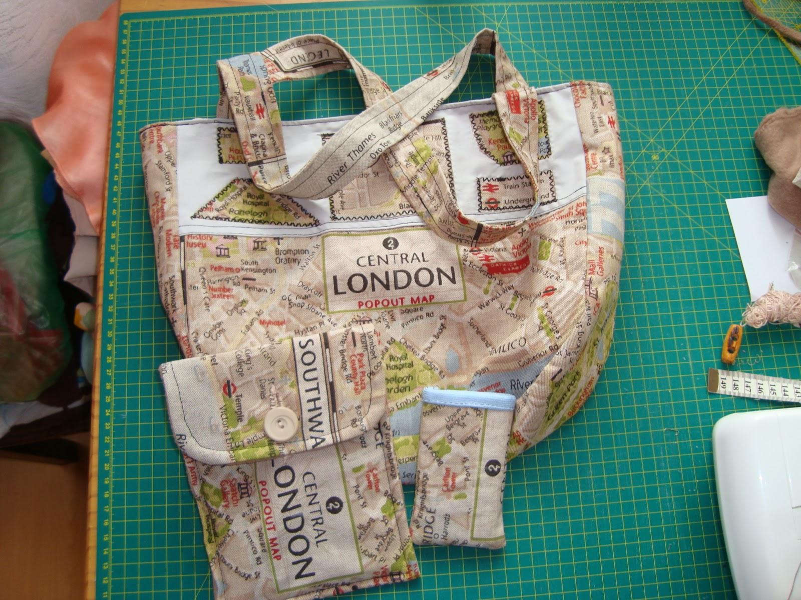 Nähen und Handarbeiten mit ilonciaLu: Schnittmuster für eine Tasche ...