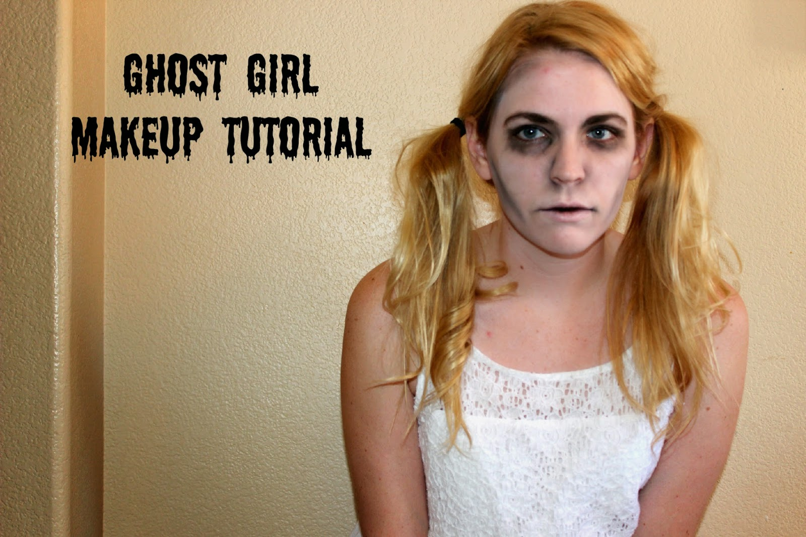 Diaries of a sunflower ghost girl makeup tutorial ghost girl makeup tutorial baditri Image collections