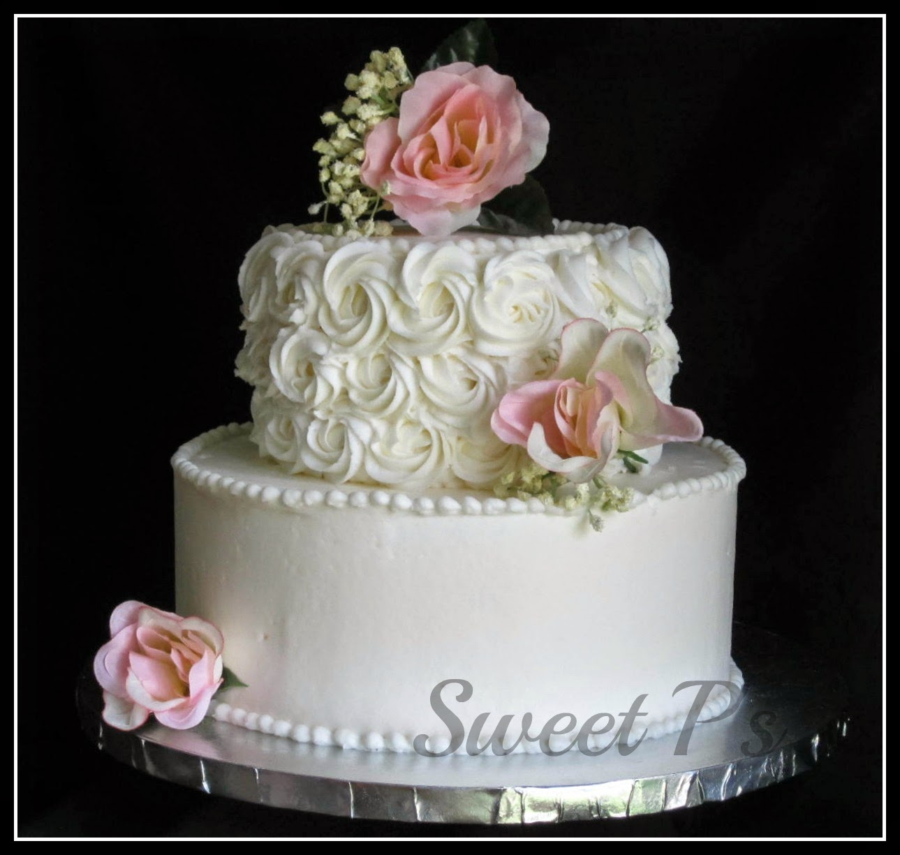 budget friendly wedding cakes sweet p 39 s cake decorating baking blog. Black Bedroom Furniture Sets. Home Design Ideas