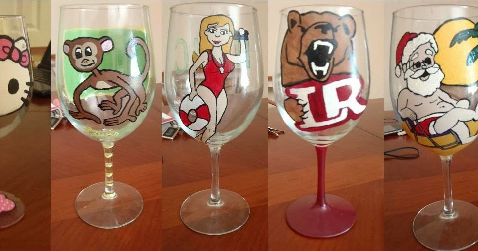 do it yourself drew how to make hand painted wine glasses