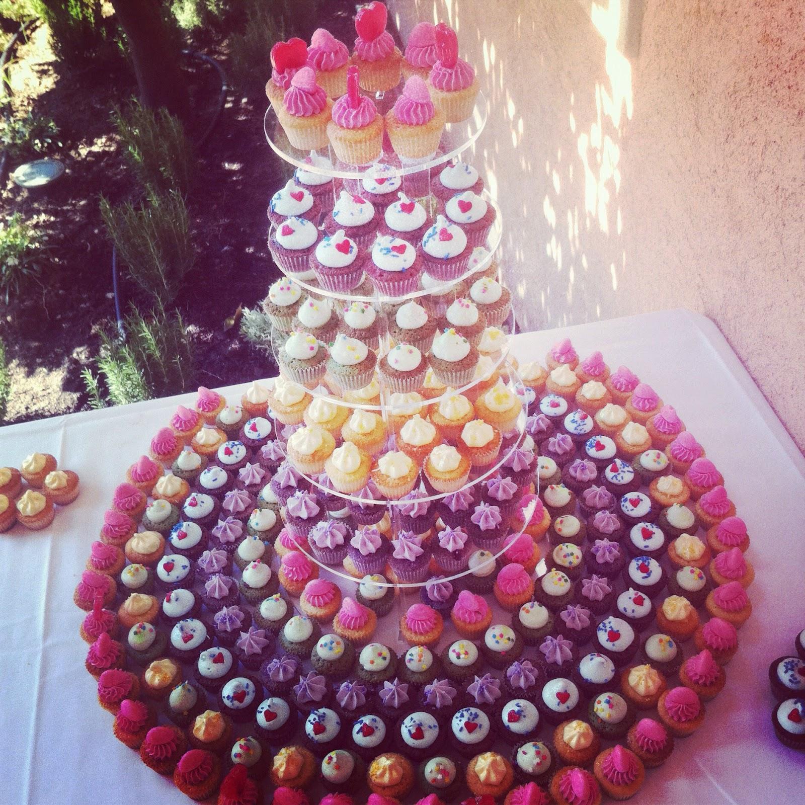 muffin et glaçage colorée