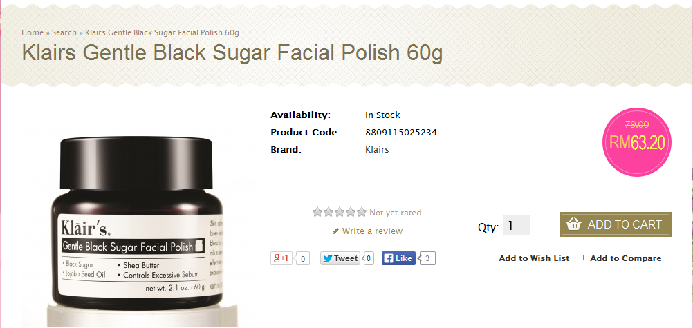 http://www.nattacosme.com/Klairs-Gentle-Black-Sugar-Facial-Polish?filter_name=klairs%20&filter_description=true