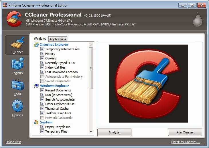 CCleaner 4.11.4619 Professional Edition Full Crack