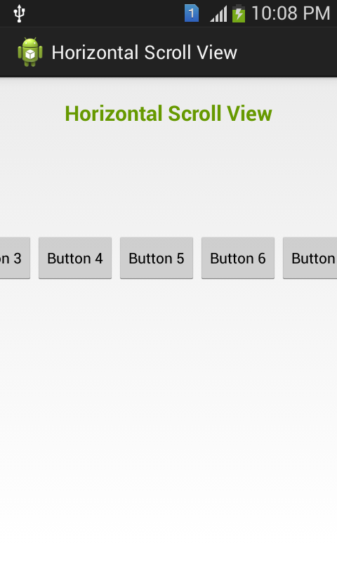 HorizontalScrollView Android App