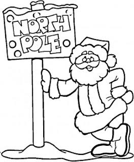 Santa christma coloring - Animali in inverno clipart ...