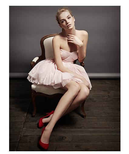 Vestidos navidad rosas